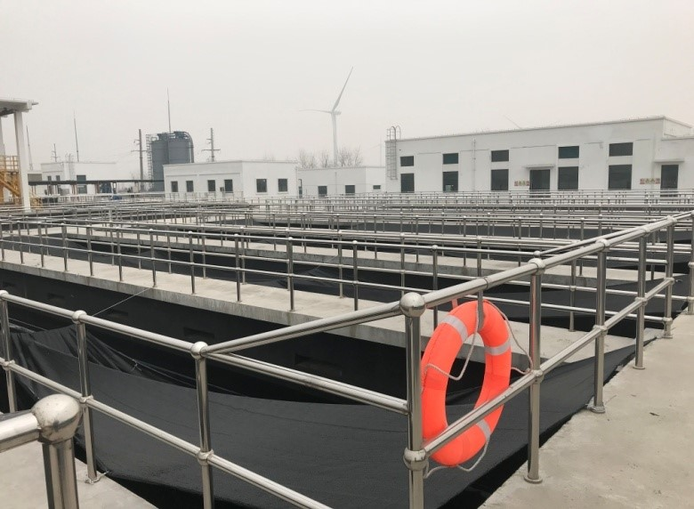 Deep bed filter sewage treatment process